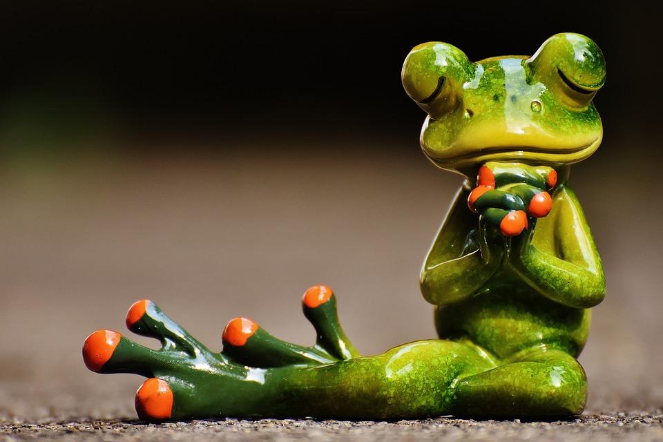 Kostenloses foto frosch beten frieden figur for Frog agency