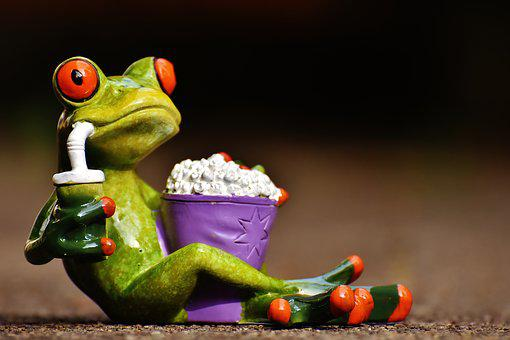 Frog Cinema Popcorn Funny Cute Sweet