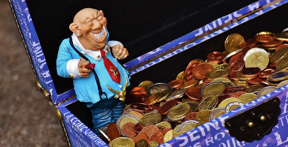 お金のサメ, お金の束, おかしい, 装飾, 楽しい, 甘い, ボックス, 胸, お金, コイン