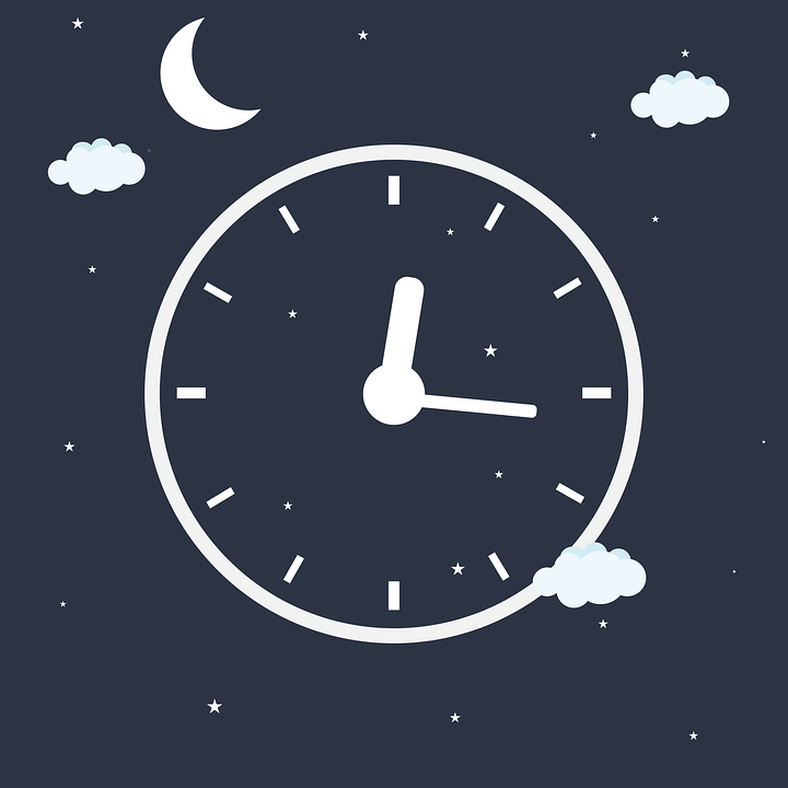 free vector graphic clock night time sleep alarm. Black Bedroom Furniture Sets. Home Design Ideas