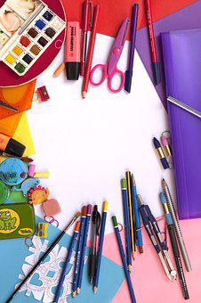Painting, School, Color, School Supplies