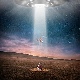 Ufo, エイリアン, 夜です, 拉致, 星, 宇宙, 子, だけで