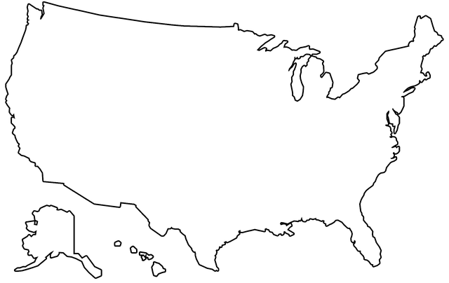 Line Drawing United States Map : Us map outline · free image on pixabay