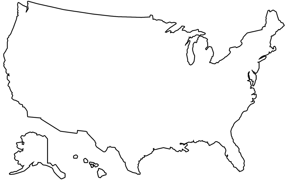 usa map outline vector
