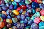 kolorowe skały, kamienie, tle