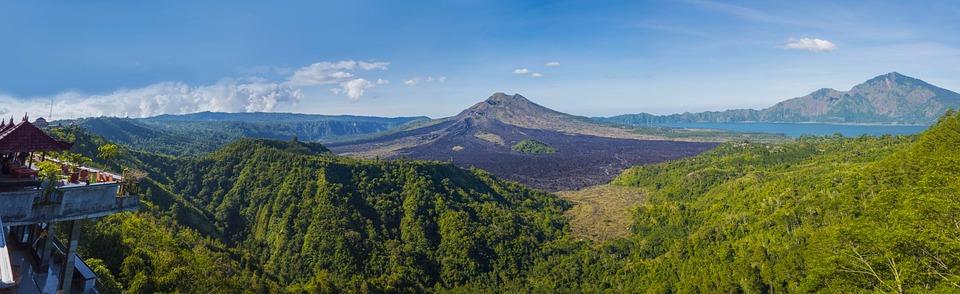 Bali, Nature, Montagne, Étang, Volcan, Tropicaux