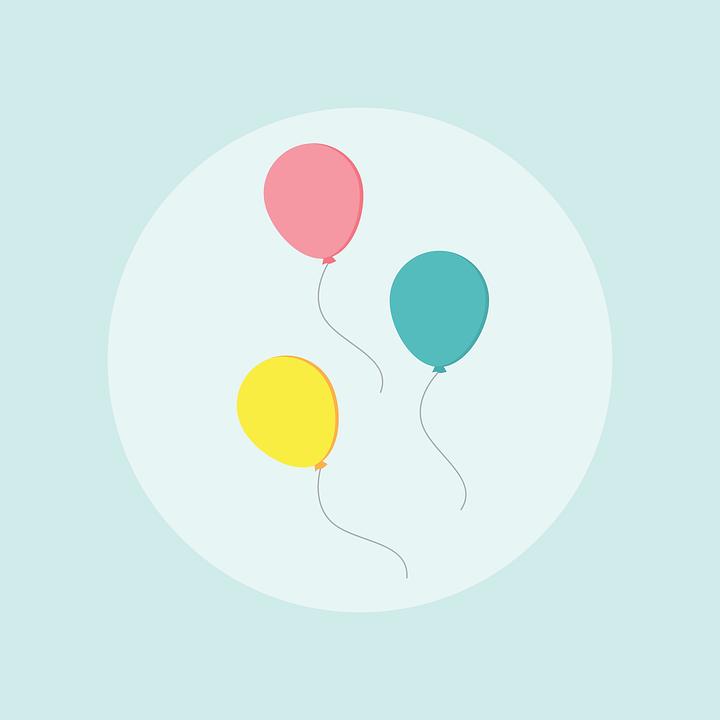 Ballon, Anniversaire, Célébration, Ballons Anniversaire