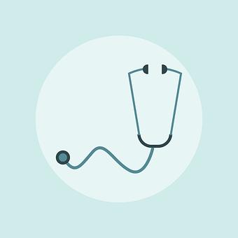 アイコンを, 医療, 病気, 健康, 医学, 聴診器, 中心部, 診断, 医師
