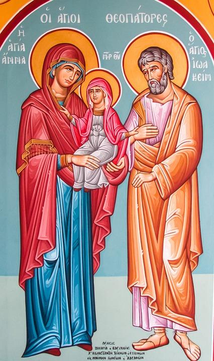 Joachim And Anna, Saints, Painting, Iconography