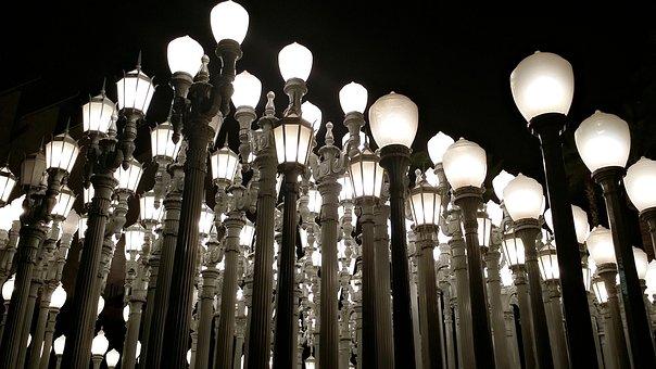 Los Angeles Lacma Lights Travel City Landm