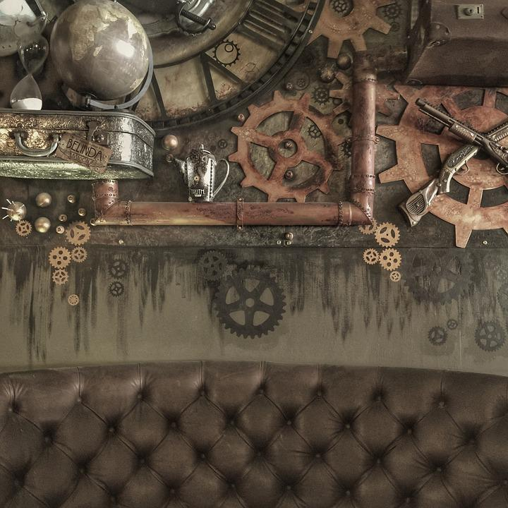 steampunk interieur design geers roest oude