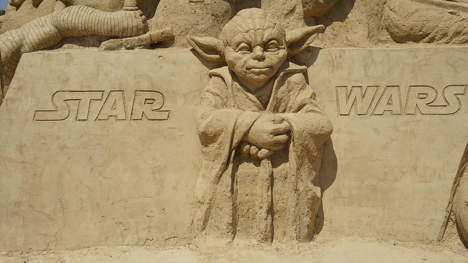 yoda star wars sand free photo on pixabay