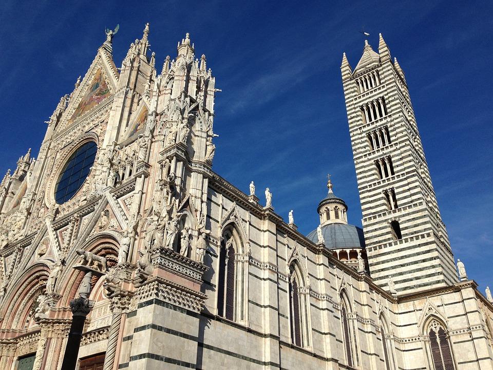 Siena, Italy, Duomo, Sky, Stone, Blue, Marble, Historic