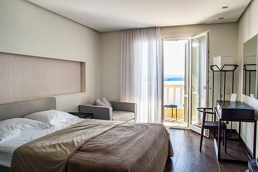 旅行, ホテルの客室数, ホテル, ルーム, ベッド, インテリア, ビジネス