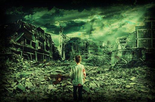 子, 戦争で失われました, 破壊された都市, だけで, 競合, 誰も