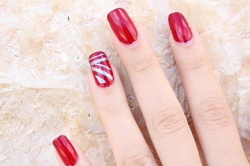 Finger Nail Polish Red Nails Polish Manicu