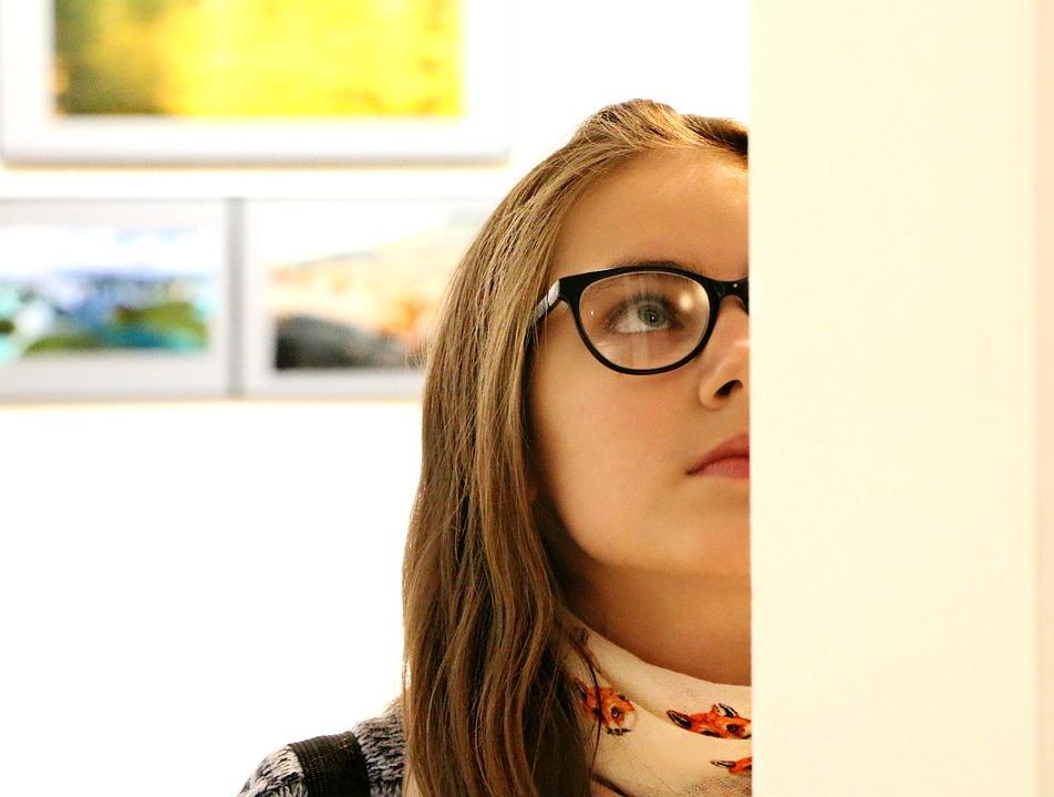 Галерея, Картины, Музей, Девочка, Смотреть, Искусство