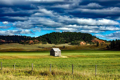 Wyoming Shed Farm Ranch Mountains Valley S