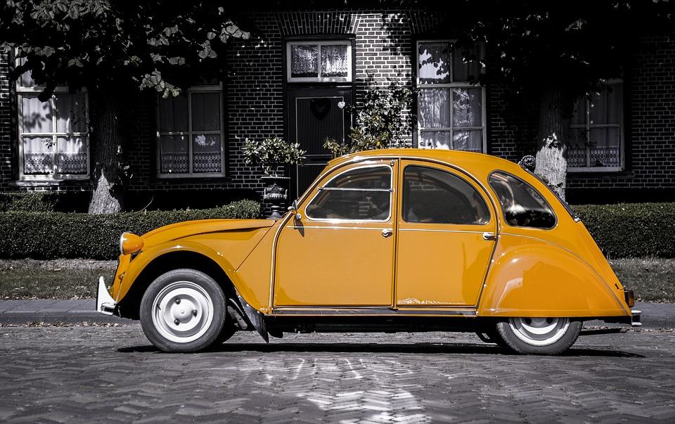 Bil, Appelsin, Gråtoner, Køretøj, Transport, Automobil