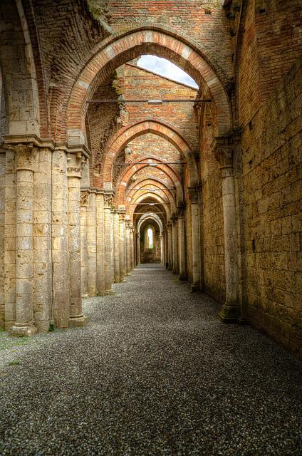free photo  archway  peristyle  gothic  abbey