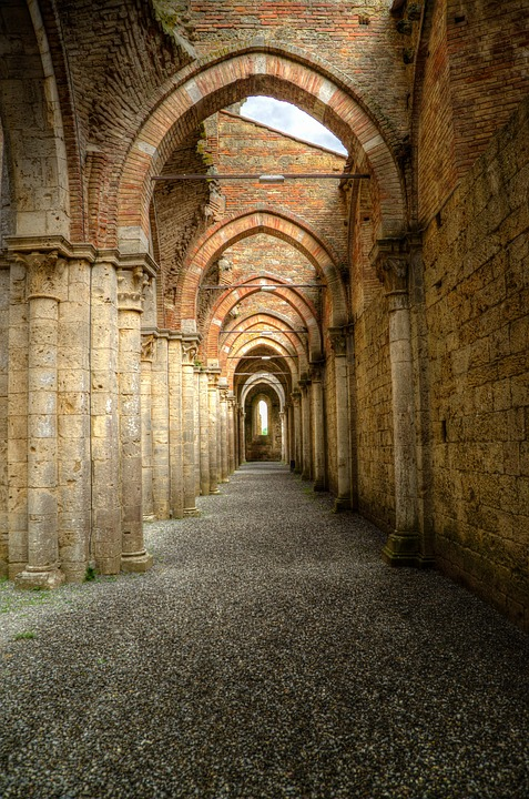 free photo archway peristyle gothic abbey free image