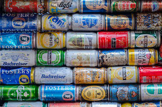 Cans, Drink, Pollution, Trash, Beverage
