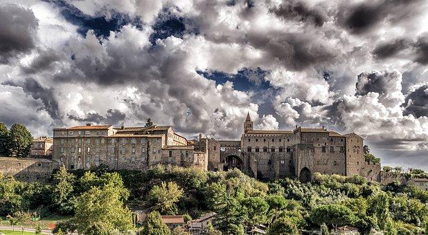 Medioevo Castello Fortezza Italia Viterbo