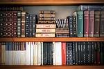 books, shelving, library