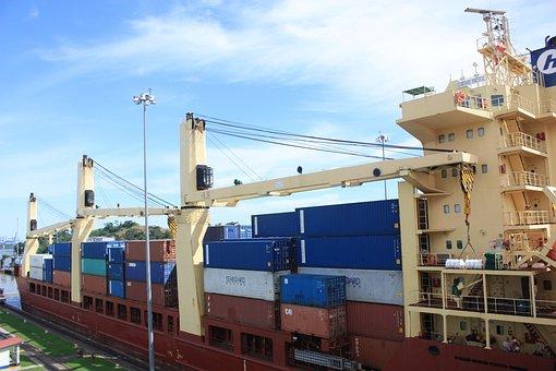 Canal, Barco, Buque, Panamá, Miraflores