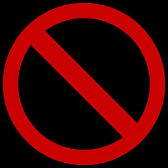 Zakaz, Zabronione, Tarcza, Ikona
