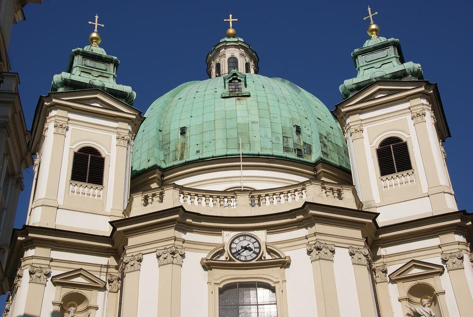 Peterskirche Vienna Dome Free Photo On Pixabay