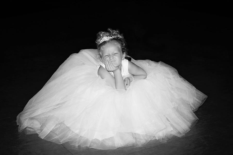 Wedding Flower Girl Dress Gown Portrait Child
