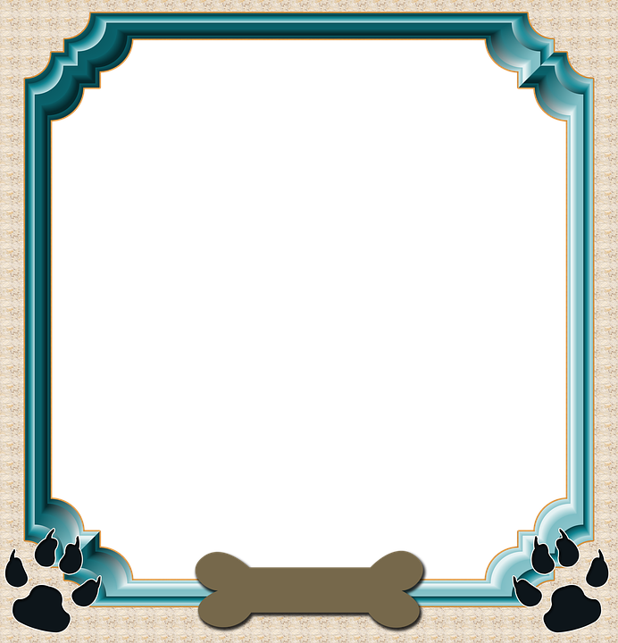 frame scrapbook dog frame pet frame dog bone - Dog Frame