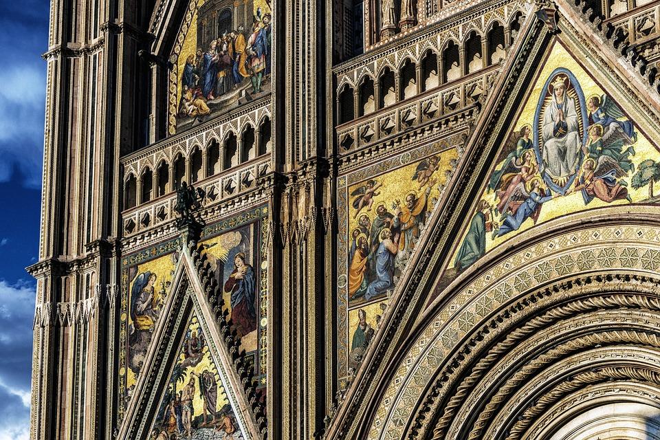 Cattedrale, Facciata, Italia, Orvieto, Dom, Chiesa