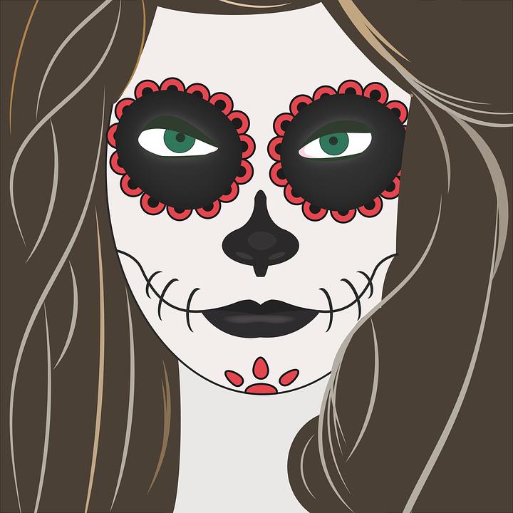 halloween jeune fille maquillage - images vectorielles gratuites sur