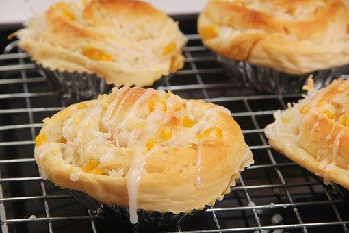 Bakery, Bread, Corn, Coconut, Food, Eat