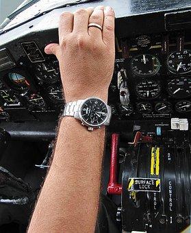 Watch, Airplane, Aviator, Hand