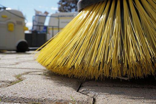 掃除人, 定期的なブラシ, リターン, きれい, ほうき, 汚い, クリーン