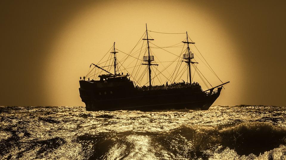 Battleship, Pirate Ship, Sailboat, Warship