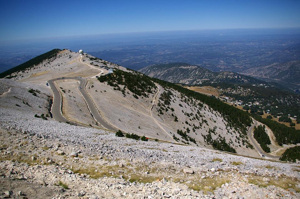 Mont Ventoux, Mountain, Sky, Blue, Sun, Wind, Cloud