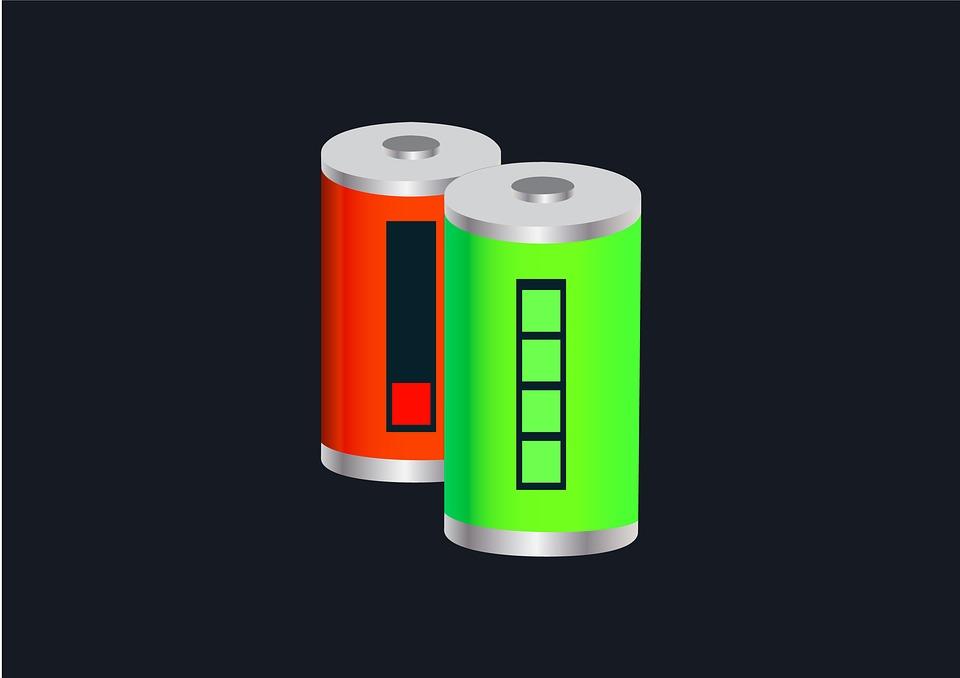 Bateria, Ładowanie, Energia, Środki Zasilające