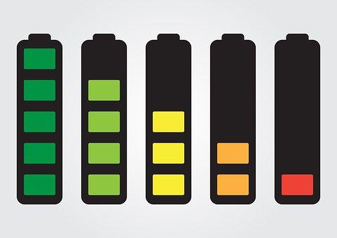 バッテリー, フル充電, 切れた電池, 弱い電荷, バッテリーセット