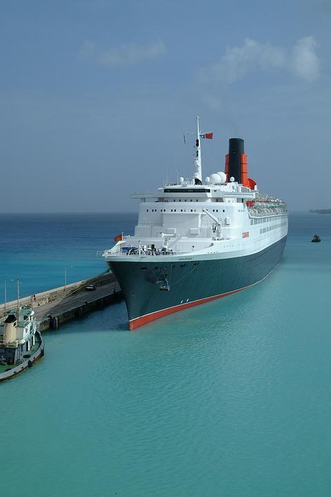 Mediterranean Cruise Ship Qe2 Vessel Nautical