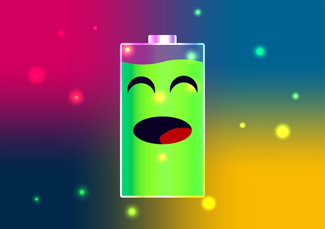 free illustration battery happy battery full charge