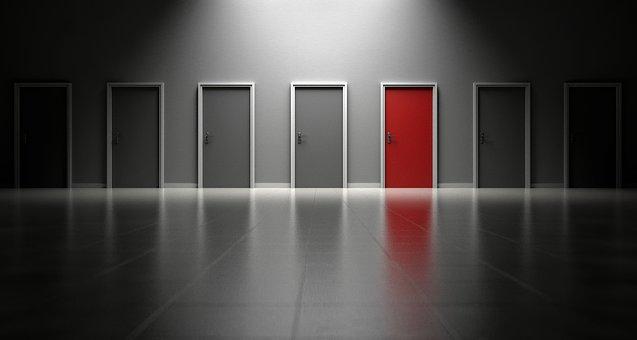 ドア, 選択肢, 選択, 意思決定, 機会, 入り口, オプション