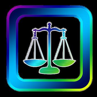 Icono, Horizontales, Justicia, Juez