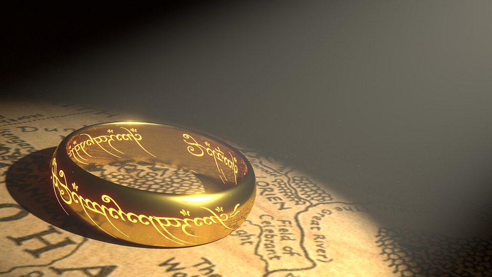Prstenec, Zlato, Middle Earth, Zlatý Prsten, Kovový