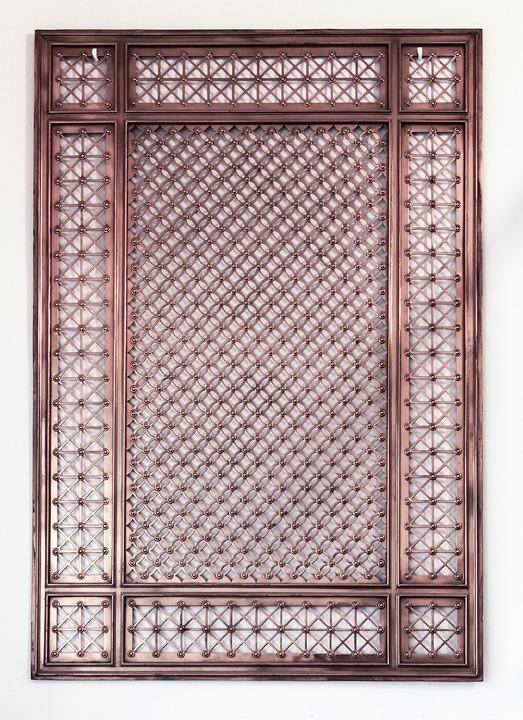 Lapangan Hijau Metalik, Besi, Detail, Tekstur, Gerbang