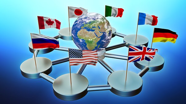 G8国, 先進国, フラグ, 3 D, ミキサー
