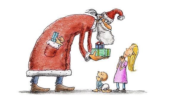 Nicholas, Children, Gifts, Christmas